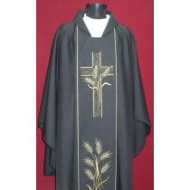 Chasuble, Vestment - BLACK/A-706
